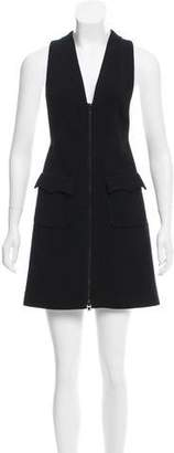 Alaia Wool-Blend Pinafore Dress w/ Tags