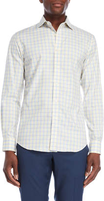 James Tattersall Yellow Check Sport Shirt