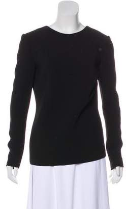 Anthony Vaccarello Structured Long Sleeve Top