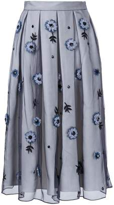 Holly Fulton flower embellished pleated skirt