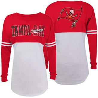 5th & Ocean Women's Tampa Bay Buccaneers Sweeper Long Sleeve T-Shirt