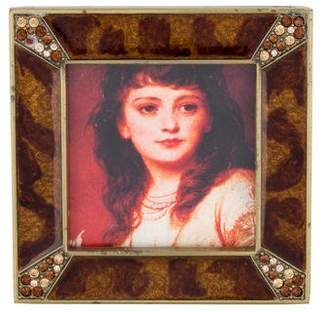 Jay Strongwater Leland Pave Corner Picture Frame