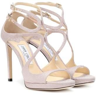 Jimmy Choo Lance 100 glitter sandals