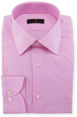 Ike Behar Men's Houndstooth Dress Shirt