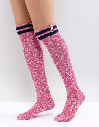Hunter Pink Knee High Boot Socks