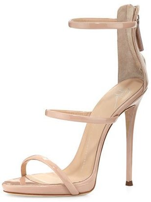 Giuseppe Zanotti Coline Patent Triple-Strap 110mm Sandal $845 thestylecure.com