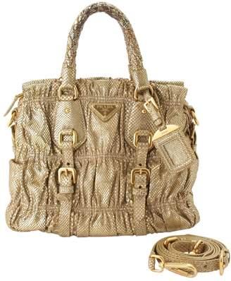 Prada Gold Exotic leathers Handbags