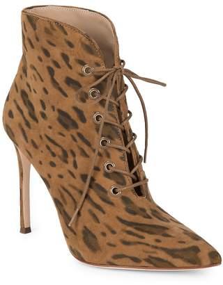 Pour La Victoire Women's Cari Kid Suede Leopard Boots