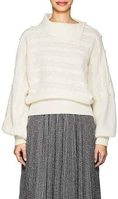Philosophy di Lorenzo Serafini Women's Cable-Knit Wool-Blend Sweater - White