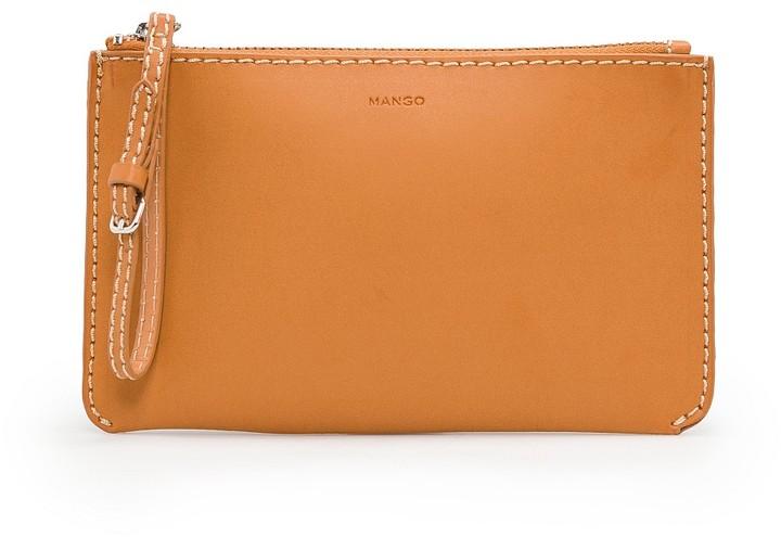MANGO Decorative stitching cosmetic bag