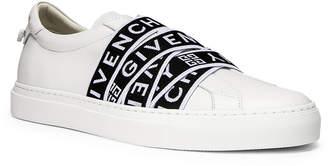 Givenchy Logo Webbing Street Sneaker in White & Black | FWRD