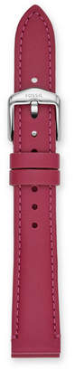 Fossil 16mm Raspberry Leather Strap