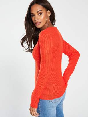 Very Scoop Neck Jumper - Orange