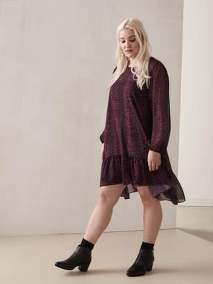 Ruffle Hem Shift Dress - Addition Elle