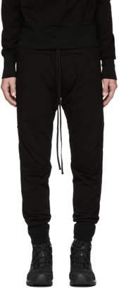 Julius Black Ribbed Lounge Pants