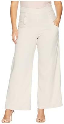 Unique Vintage Plus Size High-Waist Sailor Ginger Pants Women's Casual Pants