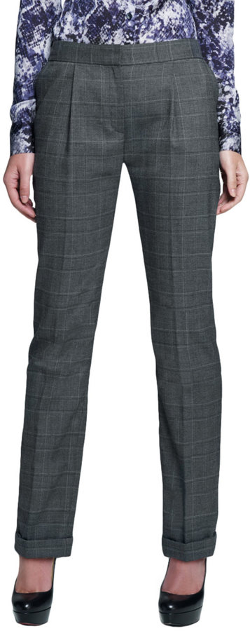 Jones New York Collection Skinny Pleated Trouser