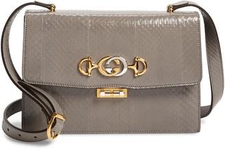 Gucci Small Zumi Genuine Snakeskin Shoulder Bag
