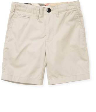 Burberry Cotton Flat Front Shorts