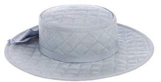 Chanel Quilted Straw Hat