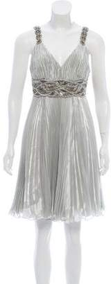 Andrew Gn Sleeveless Embellished Knee-Length Dress
