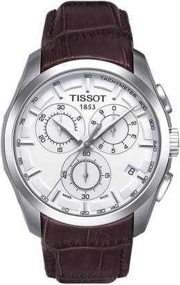 Tissot Couturier Chronograph Leather Strap Watch, 41mm