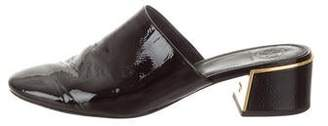 Tory Burch Patent Leather Round-Toe Mules