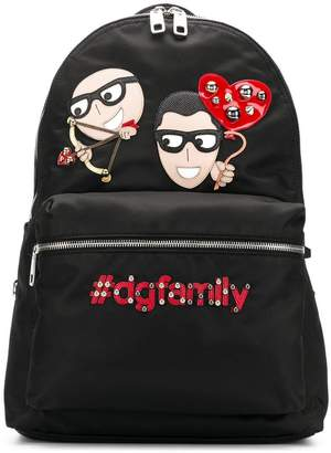 Dolce & Gabbana designer patch Vulcano backpack