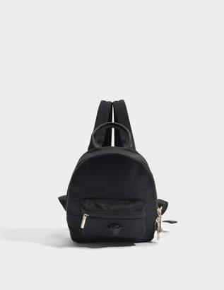 Versace Medusa Small Backpack in Black Nylon