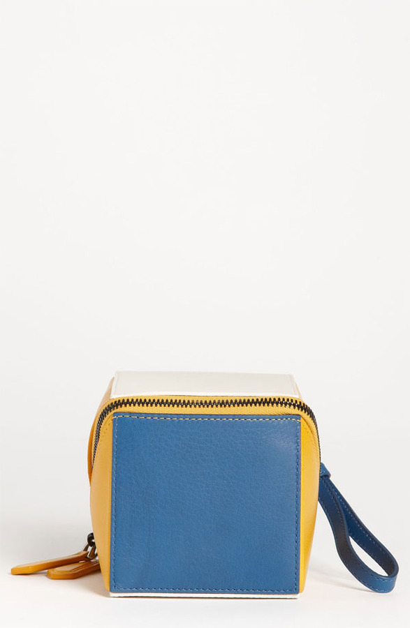 Fendi Leather Cube Wristlet