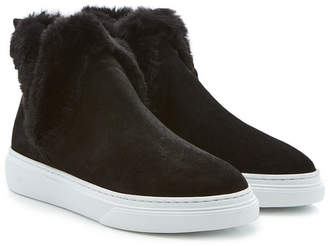 Hogan Slip-On Sneakers with Faux Fur Insole