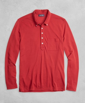 Brooks Brothers BrooksTech Long-Sleeve Polo Shirt
