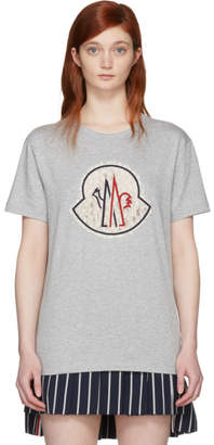 Moncler Gamme Rouge Grey Lace Logo T-Shirt