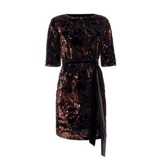 Nissa - Mini Brown Sequin Dress