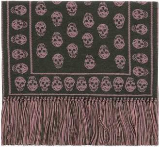 Alexander McQueen Brown Wool Scarf
