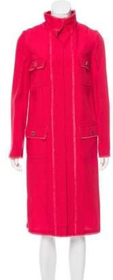 Dolce & Gabbana Long Sleeve Fringe-Trimmed Jacket w/ Tags