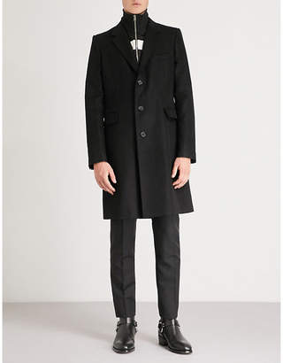 Alexander McQueen Faux-turtleneck wool-blend coat
