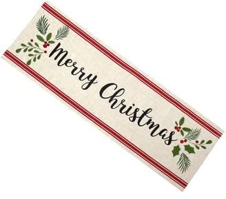 "St Nicholas Square ""Merry Christmas"" Table Runner - 36"""
