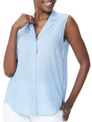 NYDJ Sleeveless Button-Front Shirt