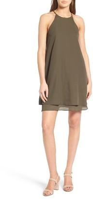 Women's Soprano High Neck Shift Dress $39 thestylecure.com