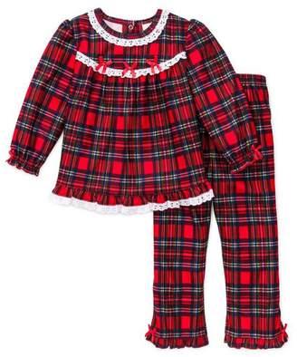Little Me Girls Christmas Pajamas - Infant or Toddler Pant Set