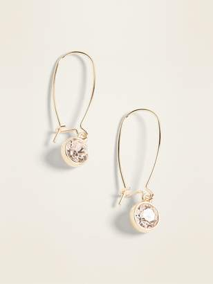 Old Navy Gold-Toned Crystal-Stone Drop Earrings For Women