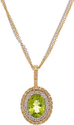 Effy Fine Jewelry 14K Two-Tone 2.33 Ct. Tw. Diamond & Peridot Necklace