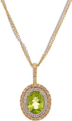 Effy Fine Jewelry 14K Two-Tone 2.33 Ct. Tw. Diamond & Peridot Necklace