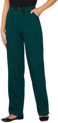 "Denim & Co. How Timeless"" Regular Stretch Pull-On Jeans"