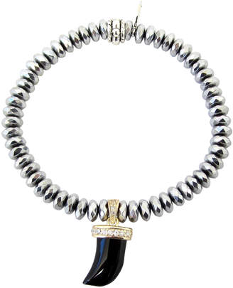 Dripping In Gems Black Onyx Horn Charm Bracelet