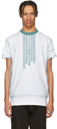 DSQUARED2 White and Blue 50s Prom Cool Fit T-Shirt