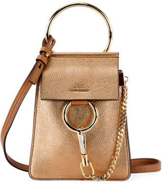 Chloé Faye Mini Metallic Leather Bracelet Bag