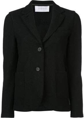 Harris Wharf London curved hem buttoned blazer