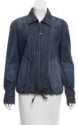 7 For All Mankind Denim Zip-Up Jacket